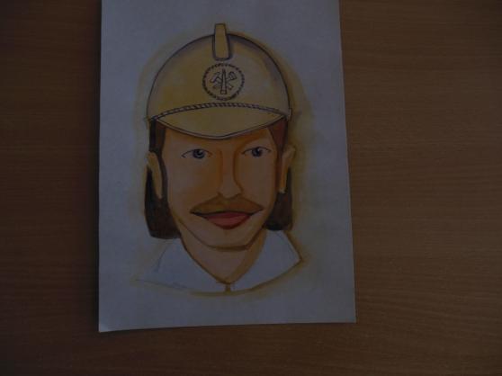 Выставляю портрет пожарного для того